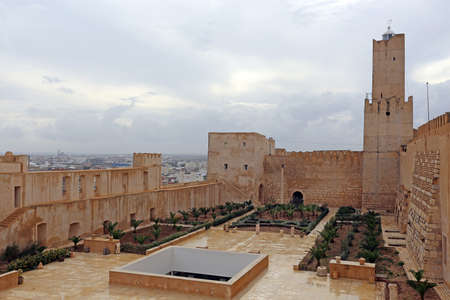 The Sousse Kasbah Tower built in 853 now houses the Khalaf al-Fata lighthouse