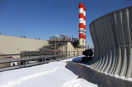 combined: Combined Cycle Power Plant Stock Photo