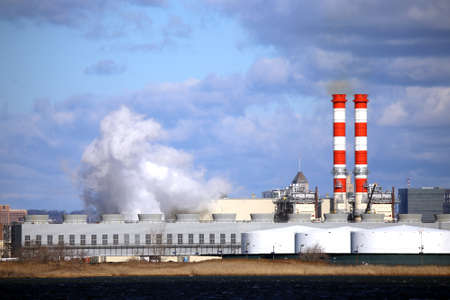 Combined Cycle Power Plant Stock Photo