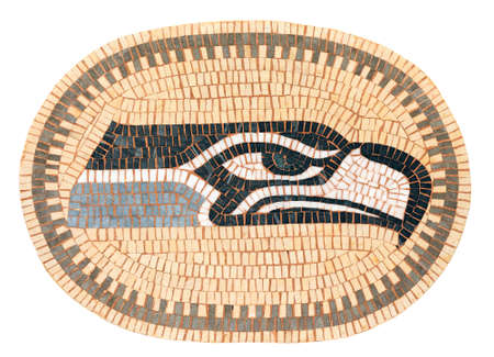 seahawks: Un mosaico de un Seahawk Foto de archivo