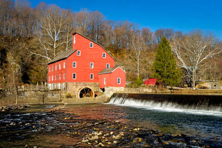 Historic Red Mill in Clinton Township, New Jersey