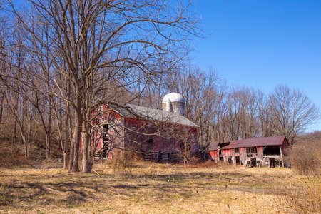 Old abandoned red barn in the Delaware Water Gap photo