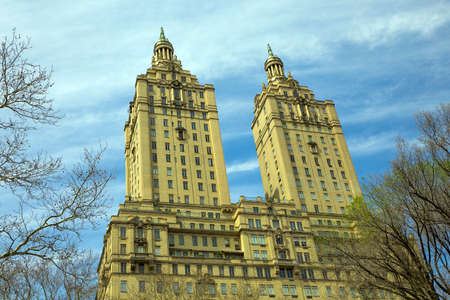 co operative: NEW YORK CITY - APRIL 19, 2015: The San Remo (145 Central Park West) is a luxury, 27-floor, co-operative apartment building in Manhattan located between West 74th Street and West 75th Street, three blocks north of The Dakota.
