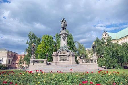 polska monument: Adam Mickiewicz statue