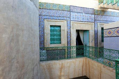 affluent: SOUSSE, TUNISIA - NOV 17: Dar Essid Sousse, is a 19th century affluent Arab home that was originally built in AD928, as seen 17 Nov 2013. A popular tourist destination.