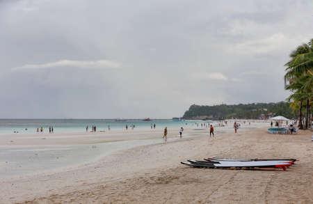 boracay: Paddle boards on Boracay Beach, Philippines