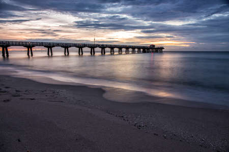 fishing pier: Dawn over the fishing pier