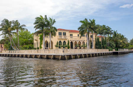 Waterfront real estate in Fort Lauderdale, Florida Editorial