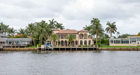 Waterfront real estate in Fort Lauderdale, Florida Reklamní fotografie