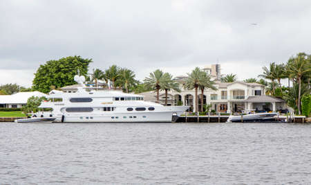intercoastal: FORT LAUDERDALE - JUNE 22, 2016: Party Girl charters for $169,000 per weel plus expenses