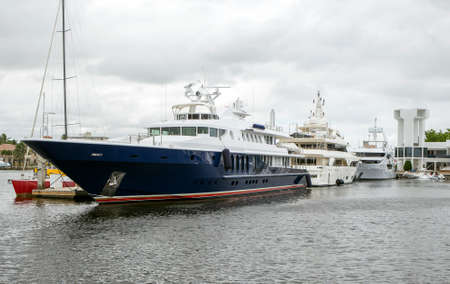 intercoastal: Luxury Yachts in Fort Lauderdale, Florida Stock Photo