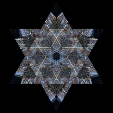 Unique abstract textrued Star of David