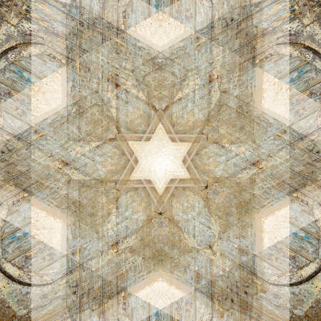 Unique abstract textured Star of David