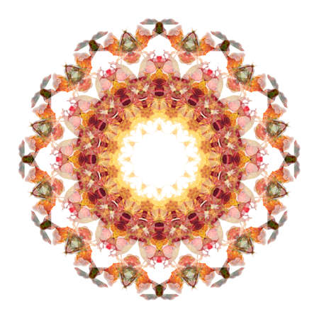 Unique abstract kaleidoscope background design. Stock Photo