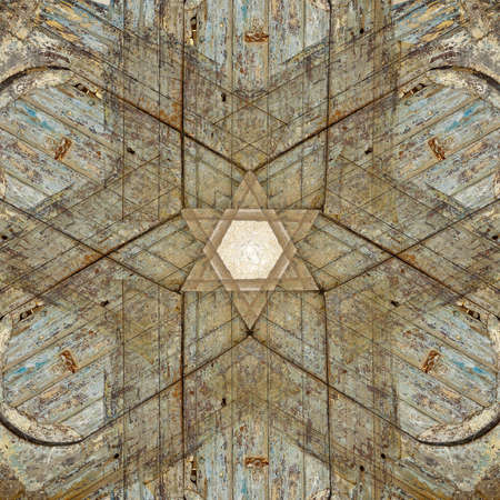 religious backgrounds: Unique abstract textured Star of David