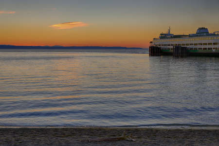 Edmonds Ferry at Sunset