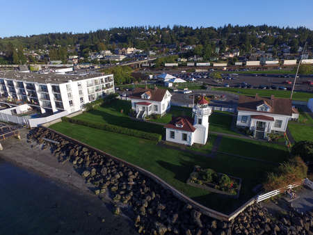 elliot: Aerial view of Elliot point, Lighthouse Park and Mukilteo Beach