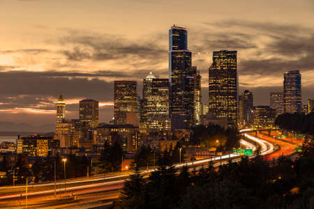 puget: Seattle at dusk with warming filter