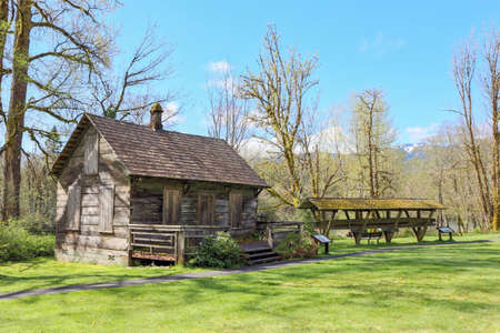 The Tom Porter Cabin on the banks of the skagit river in Rockport was built in 1887
