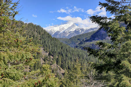 Scenic view in the North Cascade Mountains 版權商用圖片