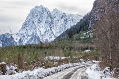 Mount Index in the Cascade Mountains, Washington, USA