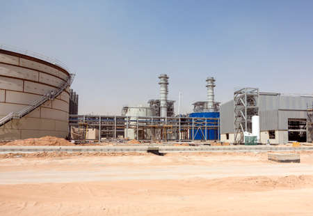 energy work: Combined cycle power plant construction