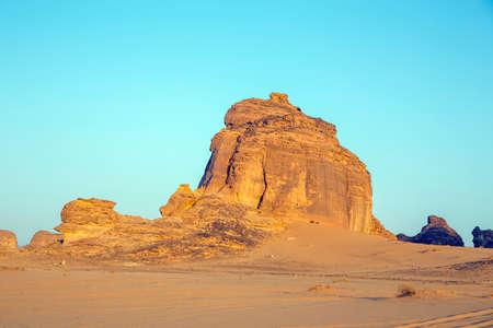 Beautiful rock formations in the desert surouding Al Ula, KSA 版權商用圖片