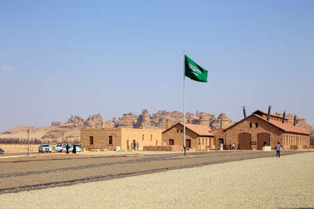 Madain Saleh, Al Ula, KSA - 2 Sep 2017: Historic Railway Station at Madain Saleh, the first World Unesco Heritage site in Saudi.