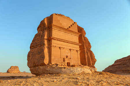 살레 알 마사 (Al Ula, KSA) 스톡 콘텐츠