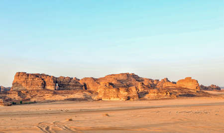 Beautiful rock formations in the desert surouding Al Ula, KSA