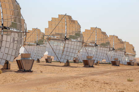 Solar Concentrator Solar Dish Power Generators Фото со стока