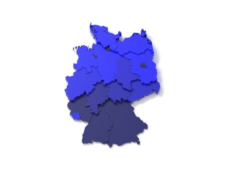 national geographic: 3d map of germany Stock Photo