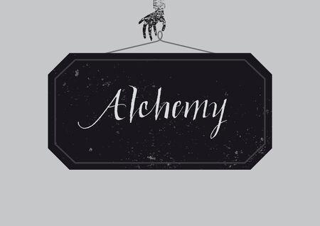 alchemy: Calligraphic Alchemy poster Illustration