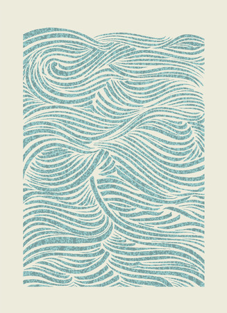 sea waves: Sea waves  EPS Vector file  Hi res JPEG included  Illustration