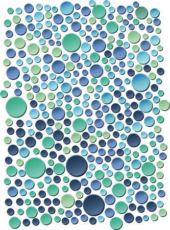 green swirl: Sea bubbles