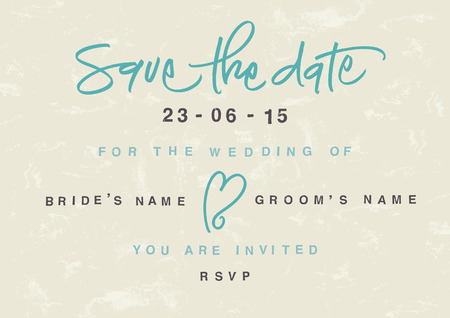 Hand written Save the Date  EPS vector file  Hi res JPEG included  Vector