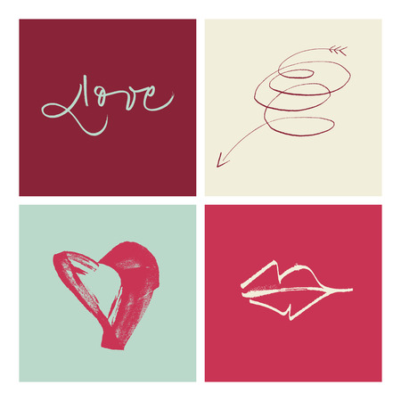 amore: Hand-written Amore Love Amor illustration  EPS vector file  Hi res JPEG included