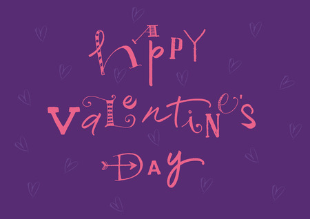 Calligraphic Happy Valentines Day  EPS vector file  Hi res JPEG included  Vector