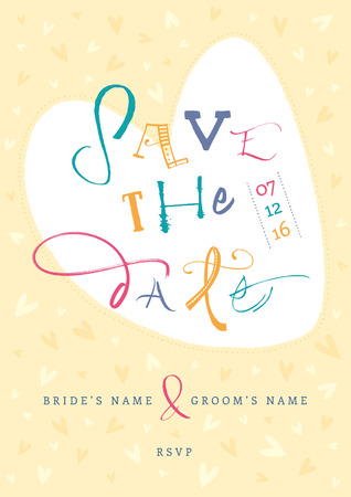 timelines: Hand-written Save the Date  EPS vector file  Hi res JPEG included