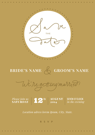 Hand-written Save the Date  Vector