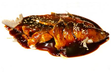 grass carp: Steamed Grass Carp in Vinegar Gravy