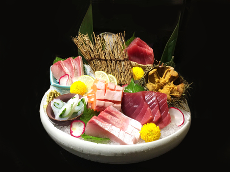 Japanese Seafood sashimi assorted cold dishes