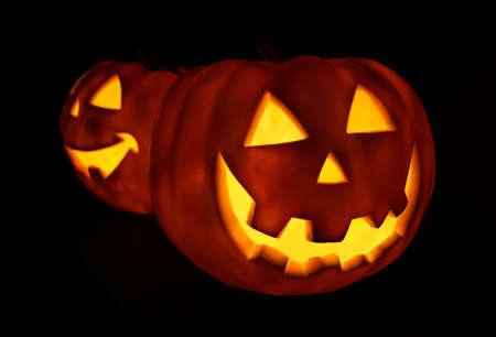 jackolantern: Glowing Pumpkins for Halloween, on black background
