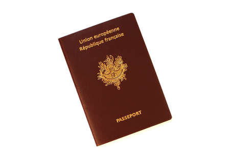 French Passport isolated on white background Stock fotó - 643220