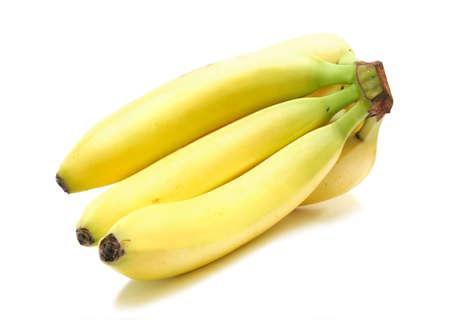 Organic Bananas isolated on white background photo