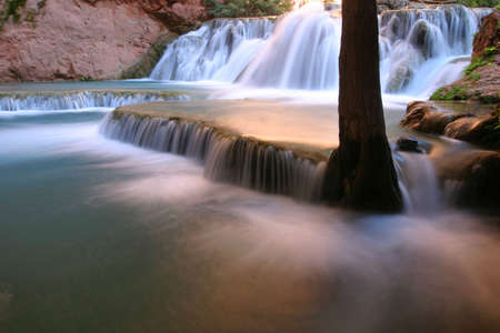Slow running water in the magic Havasu Canyon. Stok Fotoğraf