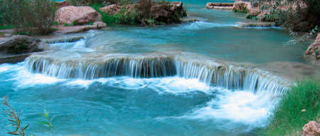 Slow running water in the magic Havasu Canyon. photo