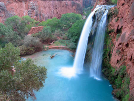 Havasu Falls in the magic Havasu Canyon