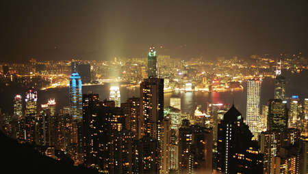 Hong Kong cityscape at night. Stock Photo - 644795