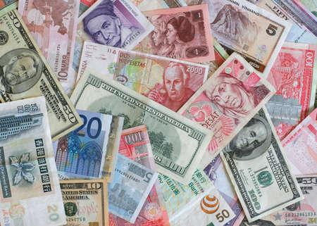 Bank notes from Europe, US, China, Poland, Hong Kon, etc...